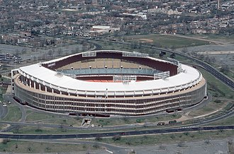 1996 Major League Soccer season - Image: RFK Stadium aerial photo, 1988