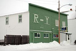RY Trail Bar in downtown Flaxville, 2010