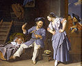Rafael valls a man spinning yarn with a peasant woman 12466192042803.jpg