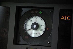 Automatic train control - Japanese-style ATC indicator