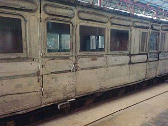 Matthew Kirtley - A railway carriage built (it is said in 1876) by Matthew Kirtley for the Metropolitan Railway