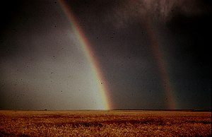 Altus, Oklahoma - Image: Rainbow with reflection NOAA