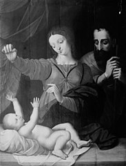The Holy Family after Raphael's Madonna of Loreto