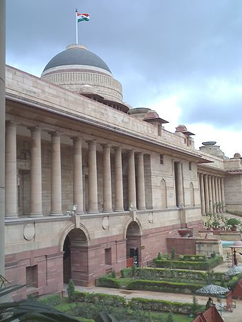 The Rashtrapati Bhawan which is the residence ...