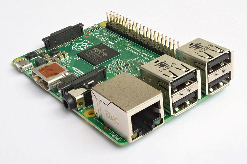 File:Raspberry Pi 2 Model B v1.1 front angle new.jpg