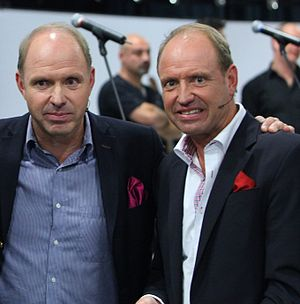 Andreas Ravelli - Ravelli (right) with brother Thomas