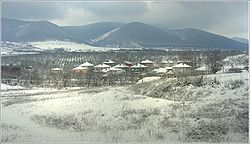 winter view with the Preslav Mountain in the background