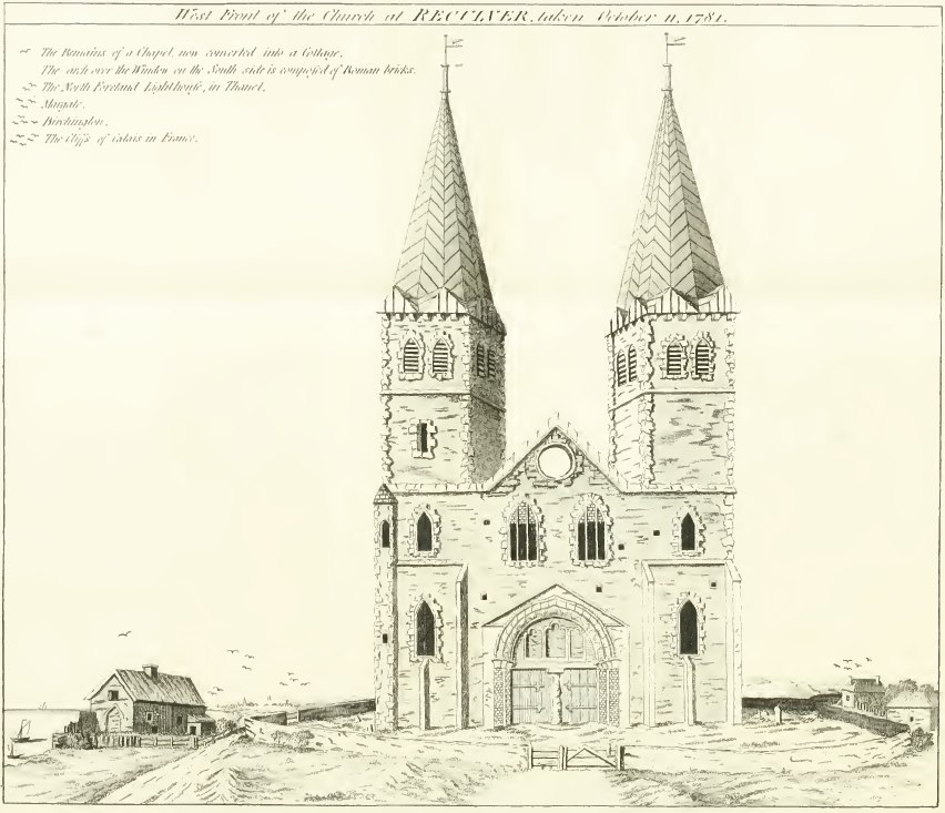The west front of St Mary's Church in 1781