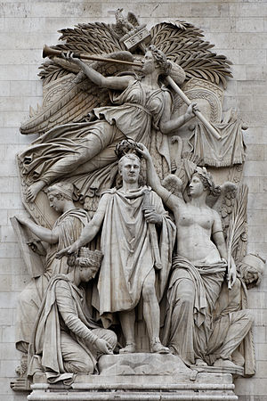 Jean-Pierre Cortot - Le Triomphe de 1810, sculpted group on the Arc de Triomphe, Paris