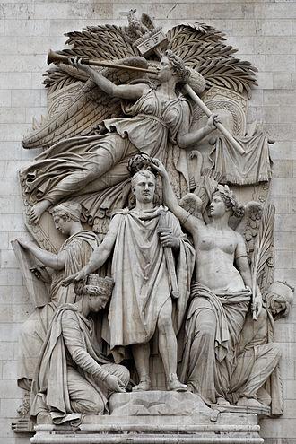 Jean-Pierre Cortot - Le Triomphe de 1810, sculpted group on the Arc de Triomphe, Paris