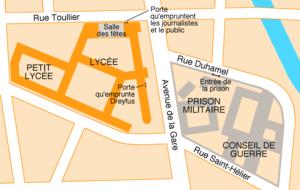 Rennes, lieux second procès Dreyfus.png
