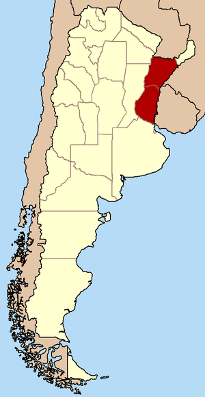 Republic of Entre Ríos - Republic of Entre Ríos (modern-day Argentine provinces of Entre Ríos and Corrientes)
