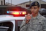 "Response force member displays ""Excellence in All We Do"" 121214-F-XB934-010.jpg"