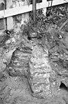 restant fundering koorsluiting kloosterkerk (nabij de zuid-west hoek van de oostvleugel) - amersfoort - 20009555 - rce