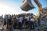Retrieving the dead in Beit Hanoun in Gaza