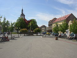 Ricany PH CZ Masaryk Square towards W 300.jpg