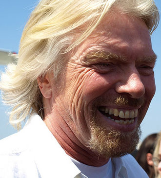 Richard Branson - Branson in April 2009 at the launch of Virgin America in Orange County, California