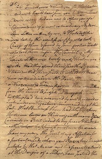 Richard Howell - Letter from Major Richard Howell to Israel Shreve, 1778
