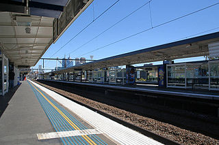 railway station in Melbourne CBD/Richmond, Melbourne, Victoria, Australia