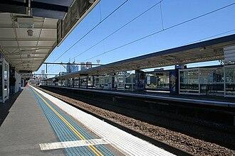 Richmond railway station, Melbourne - Westbound view from Platform 6 in March 2008
