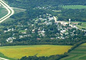 Ridgeway, Wisconsin - Aerial view of Ridgeway