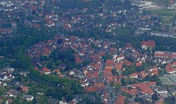 Town Centre of Rietberg, taken from plane