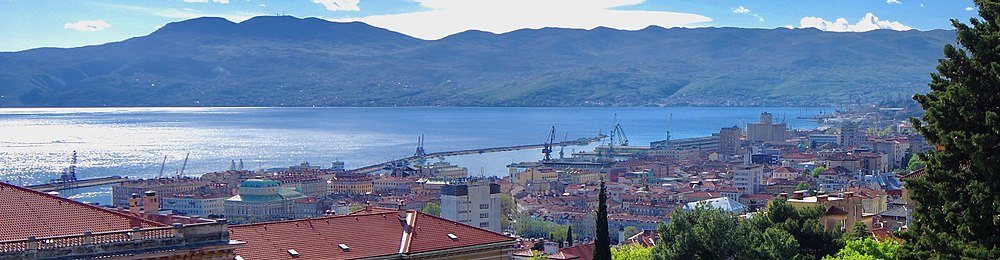 Panoramic view of Rijeka
