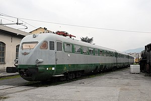 FS Class ETR 200 - The original trainset of the World Record, now preserved as historical train, was re-numbered ETR 232 in the 1960s