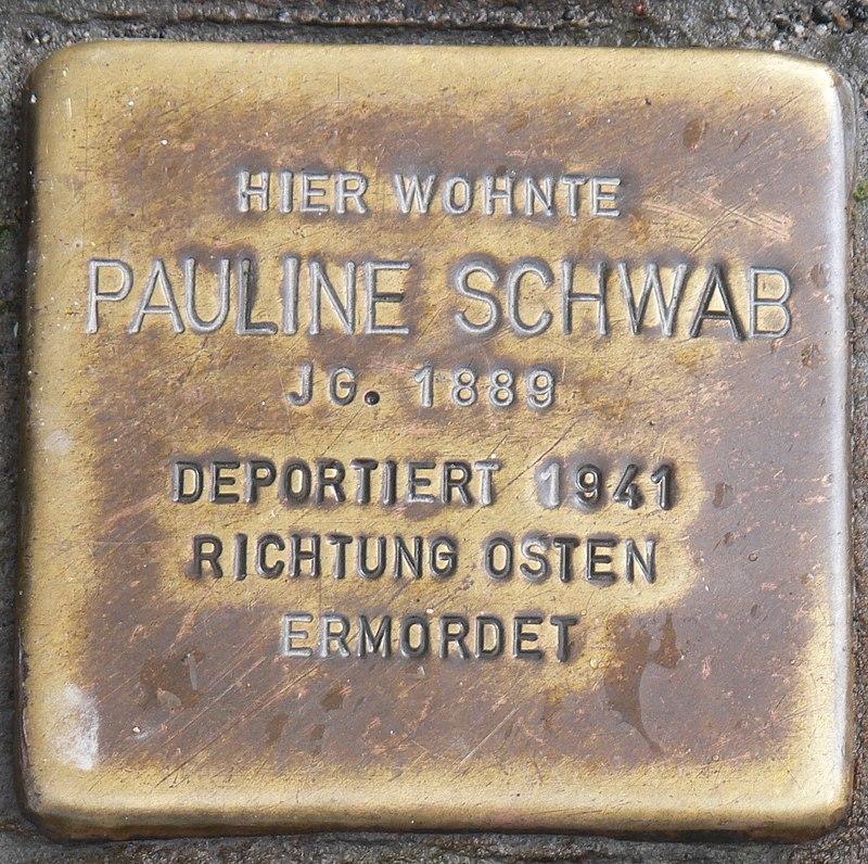 Rimpar Stolperstein Schwab, Pauline.jpg