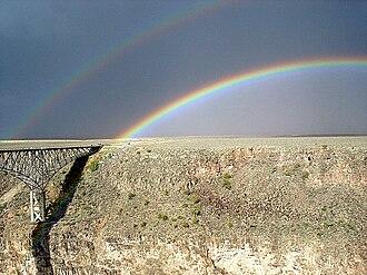Rio Grande Gorge Bridge - Image: Rio grande gorge rainbow