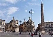 Roma Piazza del Popolo BW 1