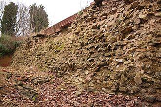 Lindum Colonia - Roman north wall of Lindum Colonia