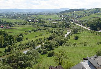 Ropa (river) - The Ropa in the town of Biecz