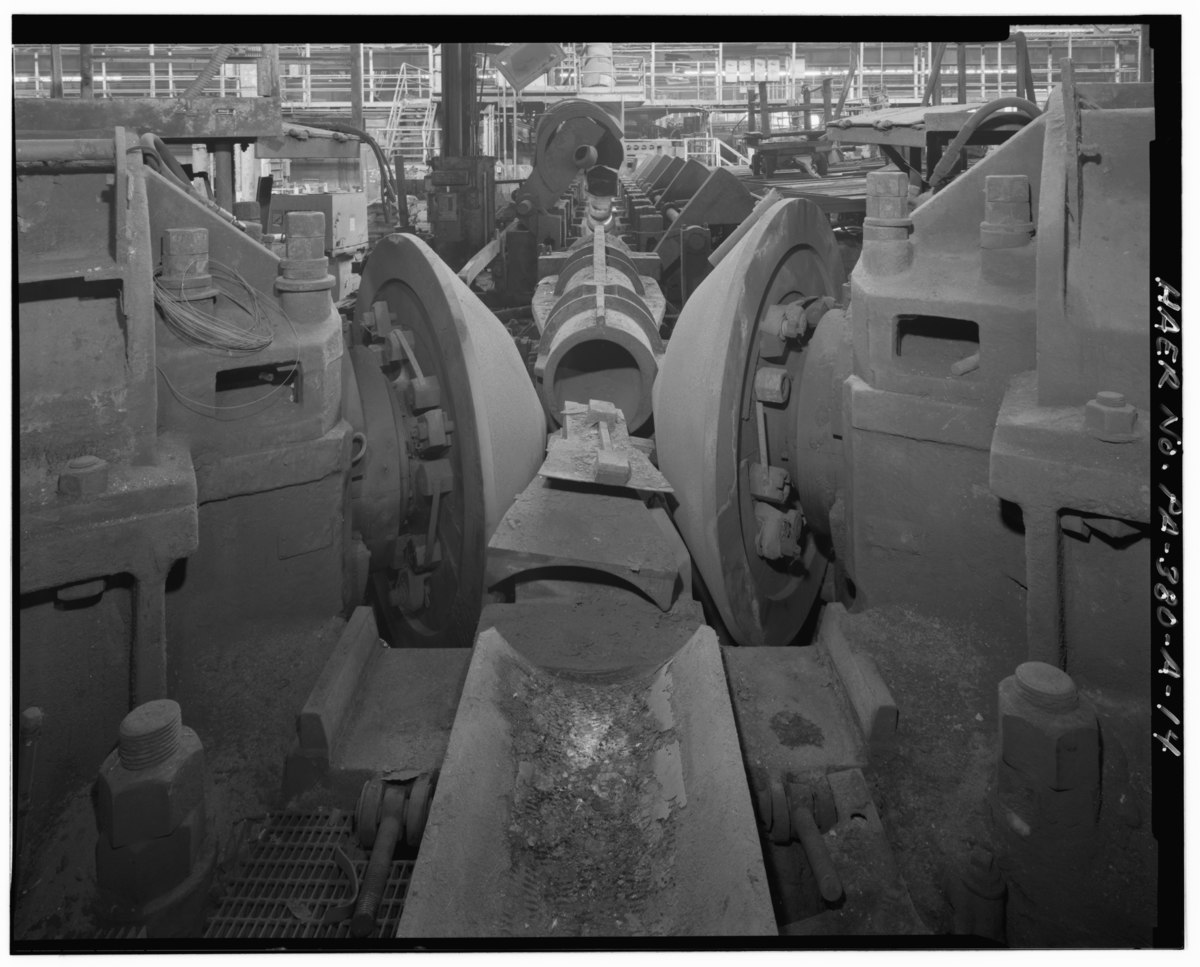 File:Rotary roller of no. 2 seamless line in bays 19 and 20 of the main pipe mill building ...