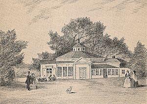 Humlegården - The Rotunda in the 1860s