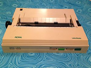 Daisy wheel printing - The Royal LetterMaster, a budget daisy-wheel printer from the 1980s