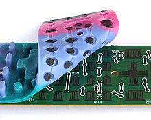 Componente in gomma di un telecomando