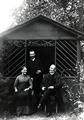 Rudolf, Leopold and Caroline Blaschka in garden.tif