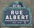 Rue Albert, Paris 13, street sign.jpg