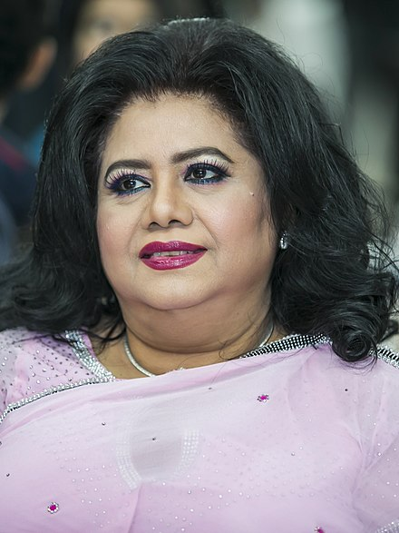 Runa Laila, a leading playback singer of South Asia since the 1960s, is based in Bangladesh Runa Laila on 4 July 2017 (01) (cropped).jpg