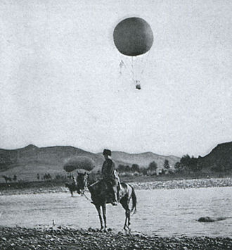 Battle of Liaoyang - Image: Russian Baloon in the Battle of Liaoyang 3