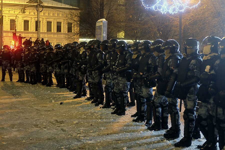Russian OMON police task forces during pro-navalny rallies.jpg