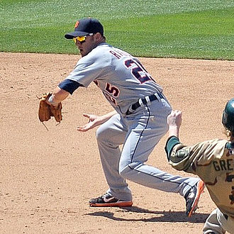 Ryan Raburn - Raburn playing for the Detroit Tigers in 2008
