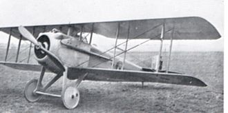 H.D. Harvey-Kelly - SPAD SVII aircraft of type used when Harvey-Kelly was shot down