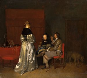 The Gallant Conversation - Copy by Charles Van Beveren, Amsterdam Museum