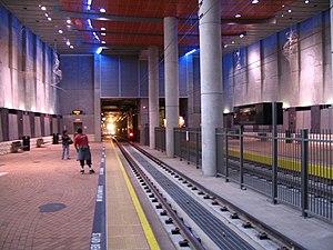 San Diego State University Transit Center - Platforms at the San Diego State University Transit Center.
