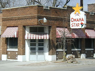 African-American neighborhood - The historic office of the Omaha Star, an African American newspaper.