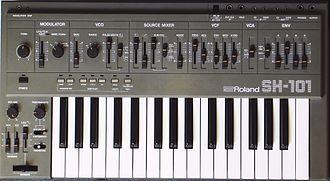 Roland SH-101 - Roland SH-101 grey model