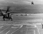 SH-3A Sea Kings of HS-6 take off from USS Kearsarge (CVS-33) at Pearl Harbor on 27 June 1967 (USN 1124878).jpg