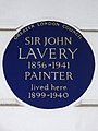 SIR JOHN LAVERY 1856-1941 Painter lived here 1899-1940.JPG